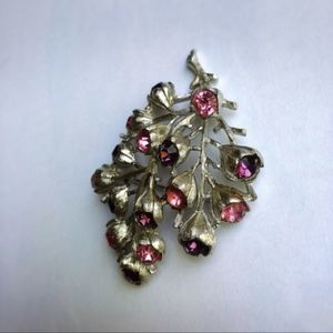 Vintage Sarah Coventry Floral Branch Brooch Pin